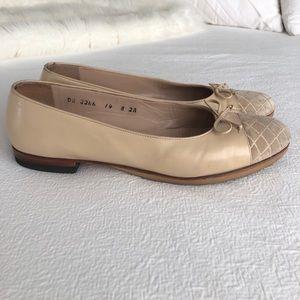 Ferragamo Salvatore Leather ballet flats